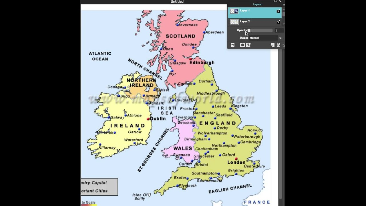 ScotlandEngland Map Real Vs BBC YouTube - Map of england