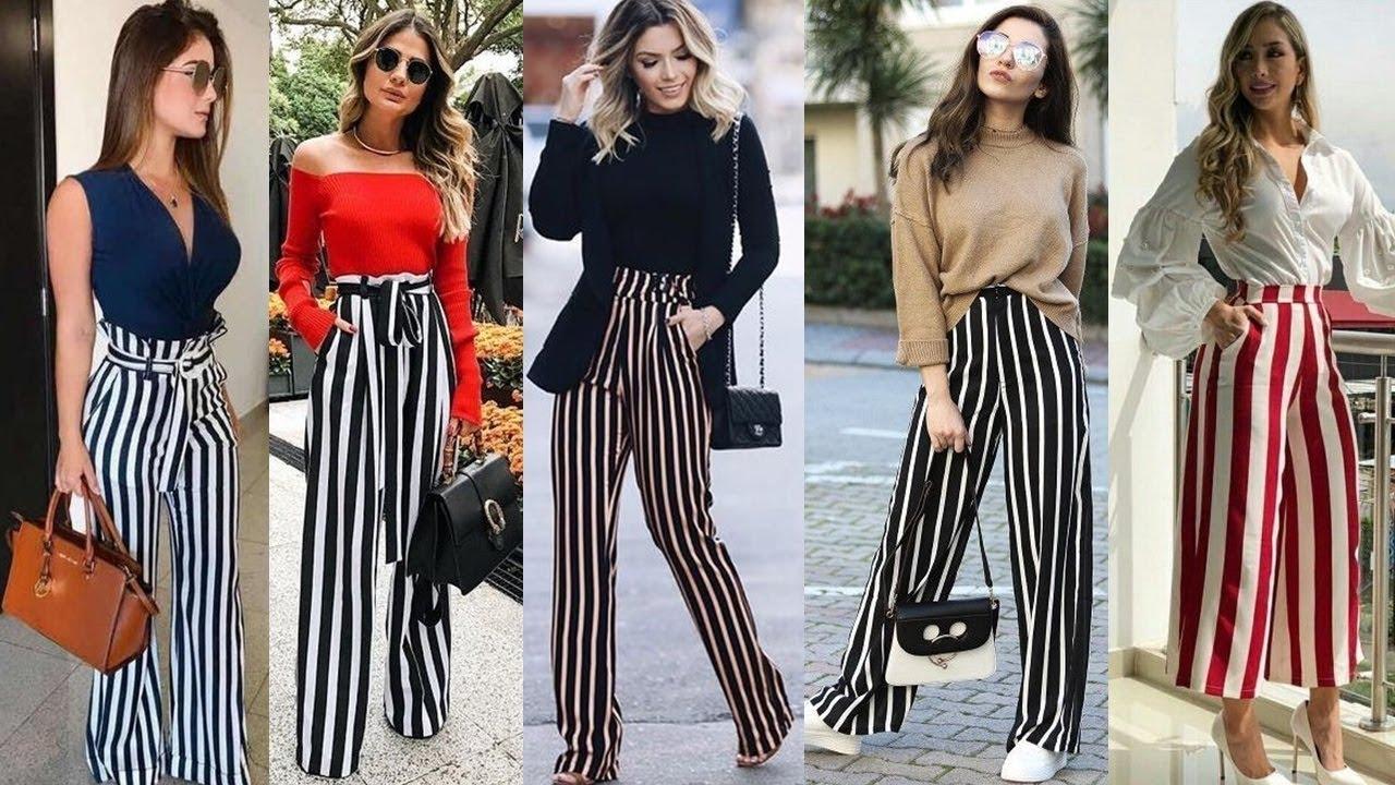 Combinaciones De Moda Con Pantalones Rayados Para Este 2020 Ideas De Looks Con Pantalones De Rayas Youtube