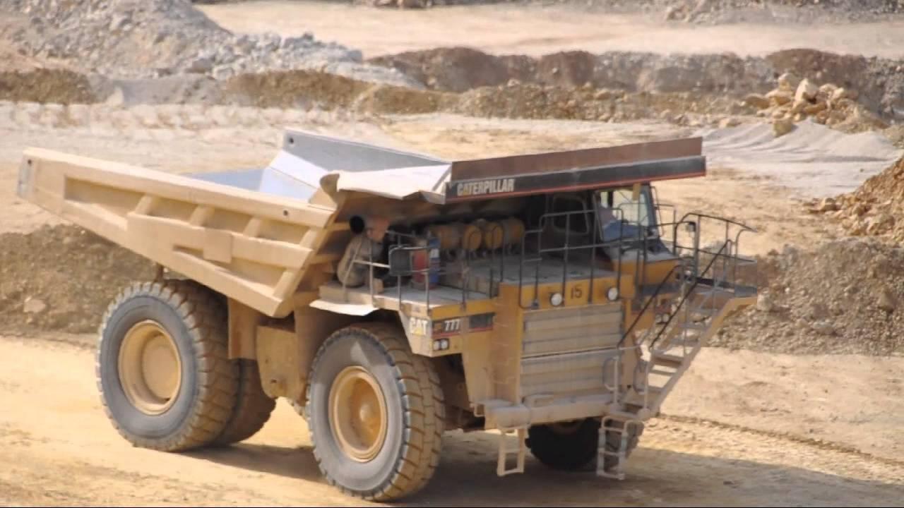 Caterpillar cat 777 mining truck and loader up close hd muldenkipper youtube - Mining images hd ...