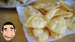 NONNA'S CHIACCHIERE RECIPE | How to Make Italian Fried Cookies | CROSTOLI