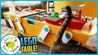 LEGO KIDKRAFT TABLE! Time to Make Some Police and Construction Vehicles and Firetrucks!
