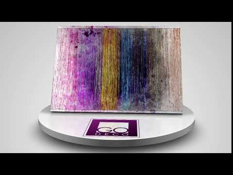 """Amazing Wall Art: Direct print on Brushed Aluminium """"Curtains of Colour"""" - GDR-BND-15-037"""