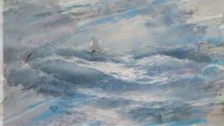 Прекрасные картины морских пейзажей от Михаила Иваненко Очень красивая музыка + шум прибоя!