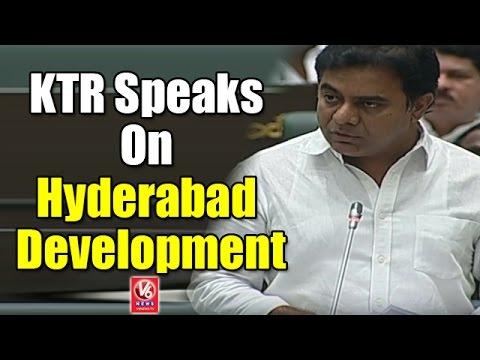 Minister KTR Speaks On Hyderabad Development | Telangana Assembly | V6 News