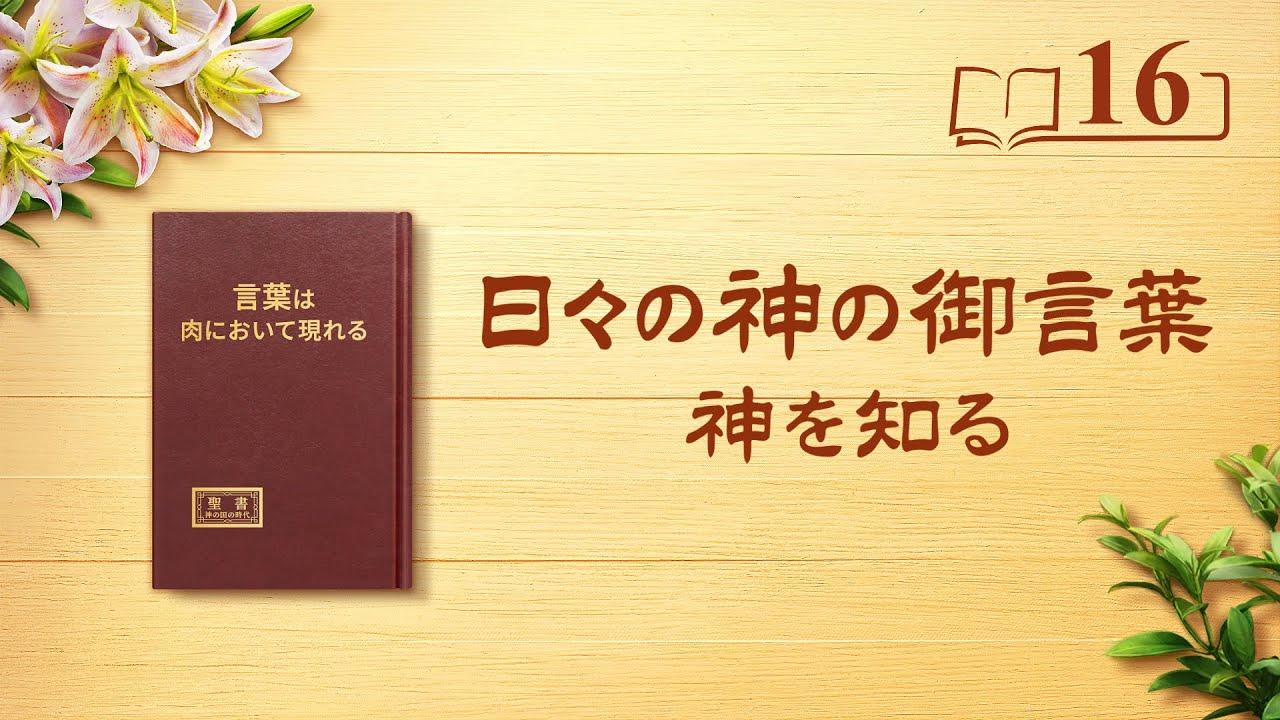 日々の神の御言葉「神の性質と神の働きが達成する成果をいかにして知るか」抜粋16