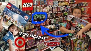 WE GO HUNTING FOR MOMMACORLLECTORS FAVORITE STUFF INSIDE TARGET!! WE FIND CARS, LEGOS, TOYS & CARDS!
