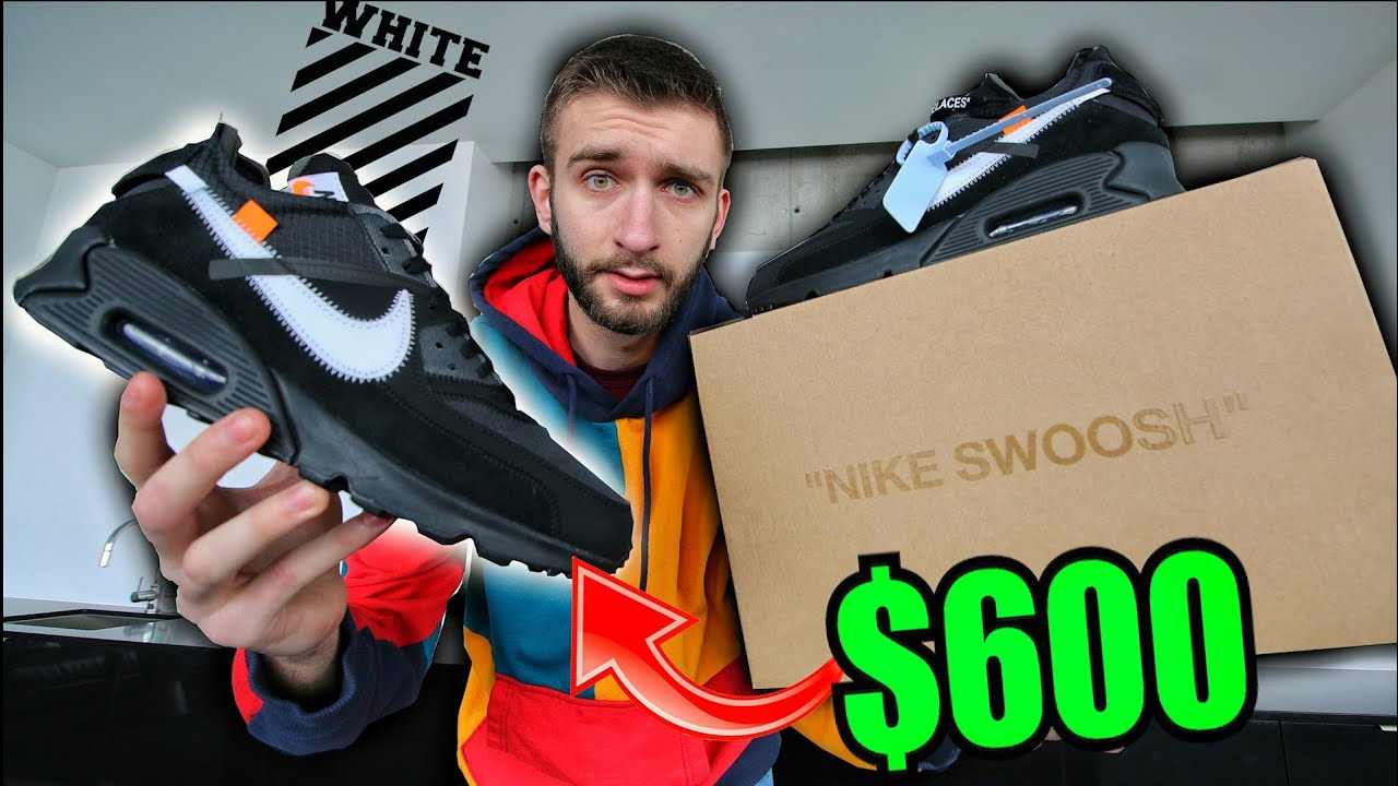 96413b47fe NIKE AIR MAX 90 OFF-WHITE BLACK! I BOUGHT THEM FOR RETAIL! - YouTube