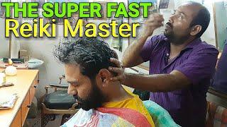 Reiki master head massage with neck cracking ASMR videos