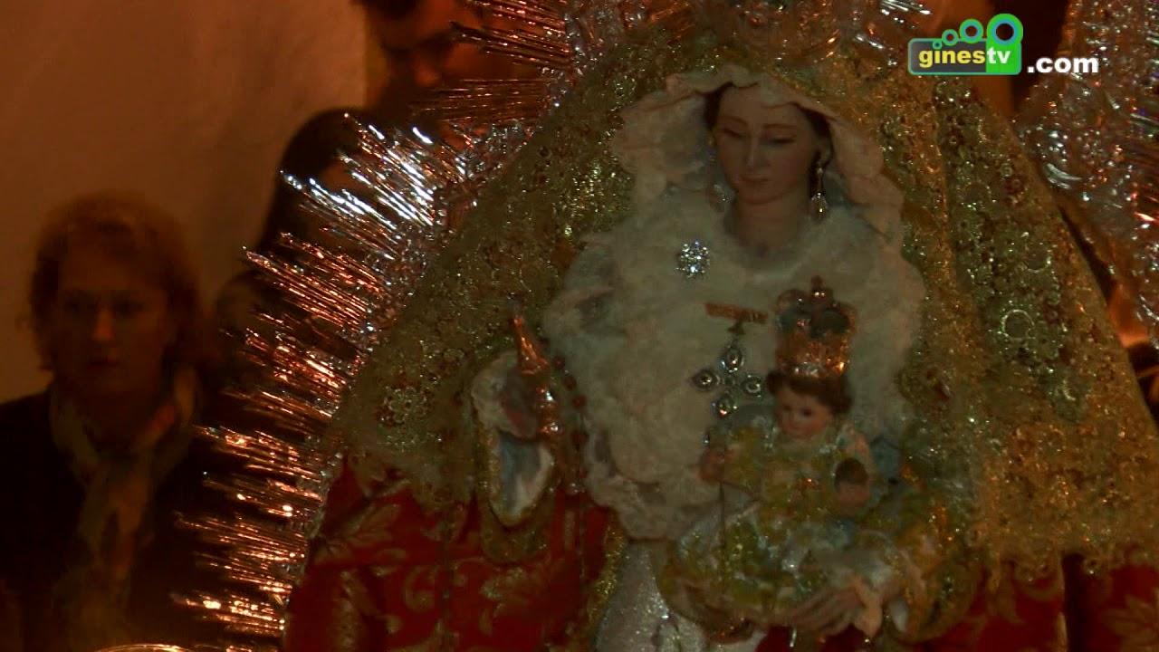 Este sábado día 12, procesión de Nuestra Señora del Rosario y Santa Rosalía por las calles de Gines