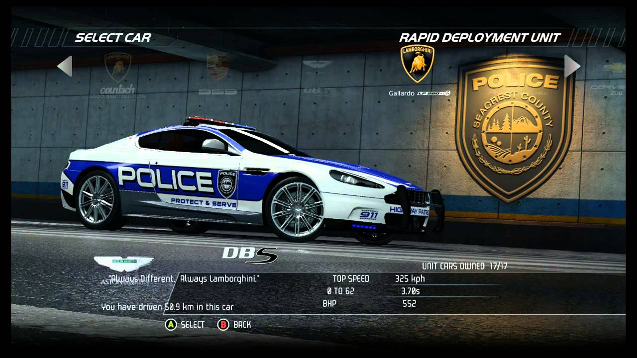 NFS Hot Pursuit  All Cars Police Including DLC  YouTube