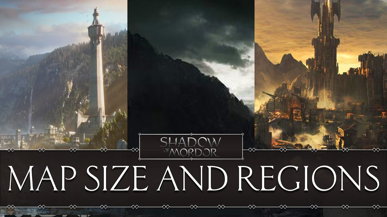 Middle earth shadow of war map size regions and 23 fortresses middle earth shadow of war map size regions and 23 fortresses gumiabroncs Gallery
