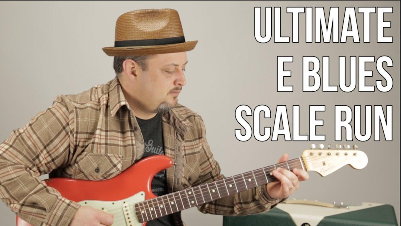 Ultimate E Blues Scale Run - Marty Schwartz Blues Guitar Lesson