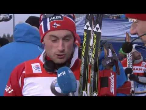 Petter Northug interview after Axel Teichmann win (Norwegian)
