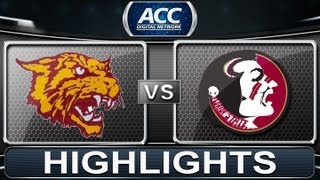 2013 ACC Football Highlights | Bethune-Cookman vs Florida State | ACCDigitalNetwork