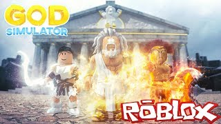 THE MYTHICAL GOD SIMULATION AT ROBLOX! (HADES, ZEUS, ARES)