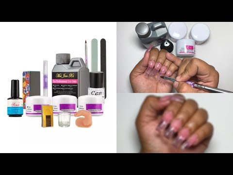 Testing A $10 Acrylic Nail Kit From ALIEXPRESS | Is It WORTH IT? 100K GIVEAWAY