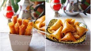 Recette De Gâteaux Marocains : Briouates Et Cigares Aux Amandes Et Miel  بريوات باللوز
