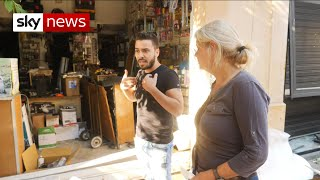 Beirut: Shop owner shows damage caused by blast