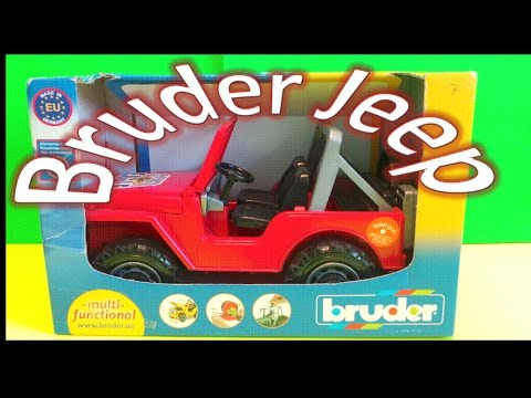 Bruder Toy Red Jeep Wrangler Super Eagle SUV multi-functional unboxing