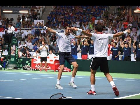 Highlights: Marin Cilic/Ivan Dodig (CRO) v Pierre-Hugues Herbert/Nicolas Mahut (FRA)