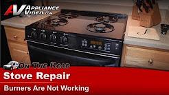 GE,Hotpoint & RCA  Gas Stove Repair - Burner is not working - JGSP44BEY3BB