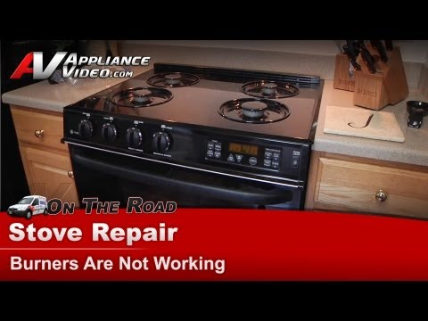 GE,Hotpoint & RCA  Gas Stove Repair - Burner is not working - JGSP44BEY3BB