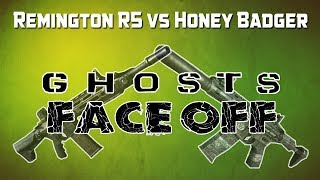 "Ghosts Face Off -- Remington R5 vs Honey Badger ""Best AR"" 