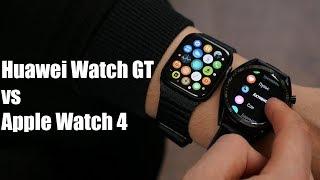 Huawei Watch GT против Apple Watch 4