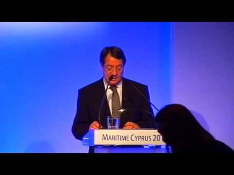 Maritime 2013 Nicos Anastasiades speach