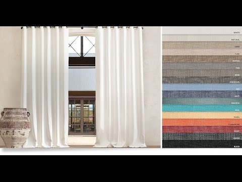 Restoration Hardware outdoor curtains that beautify your outdoor areas