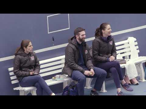 Great Britain's Fed Cup team practise in Bath