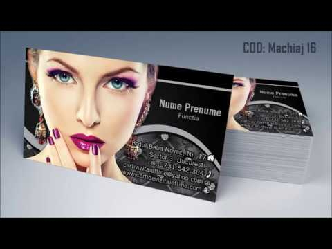 Carti De Vizita Makeup Artist Machiaj Salon Infrumusetare By Cdvi