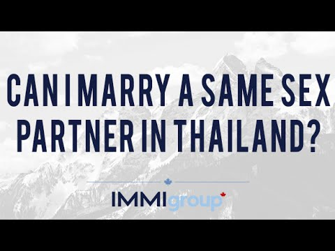 Can I marry a same sex partner in Thailand?