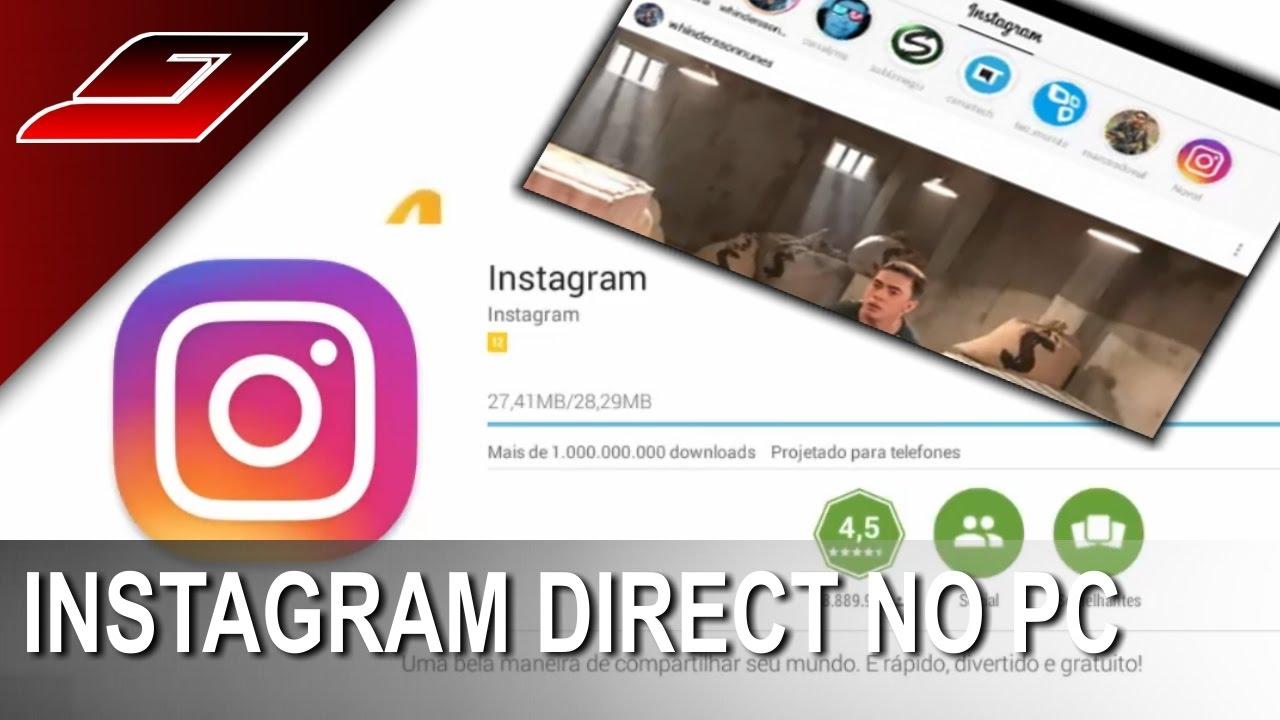 como usar direct do instagram no pc windows 7