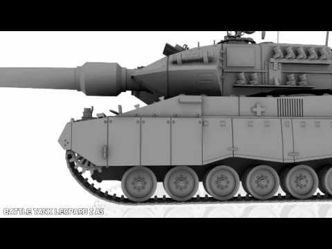 3d model battle tank leopard 2 a5 youtube 3d model battle tank leopard 2 a5 malvernweather Choice Image