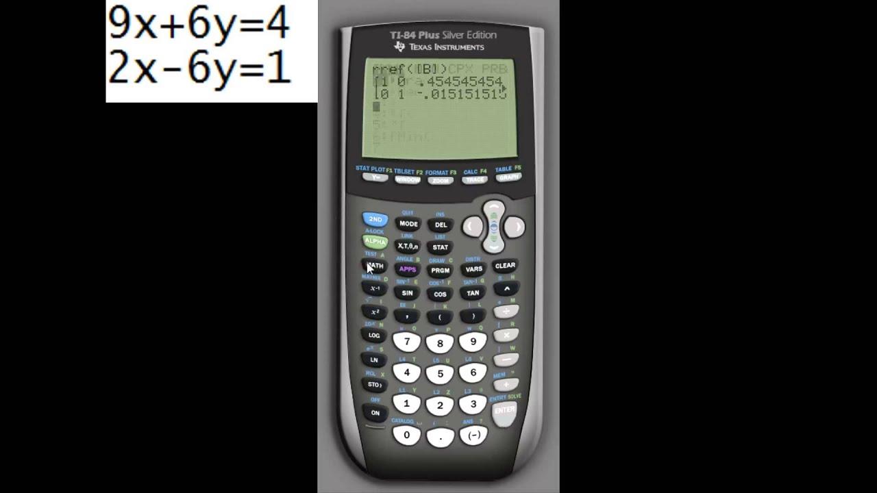 TI 84 Gauss Jordan - YouTube