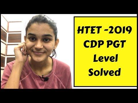 CDP HTET PGT Level Solved | CDP revision for HTET & Super-TET 2019