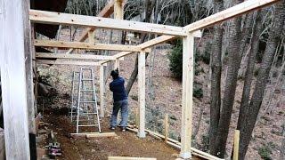 柱・梁の組み立て (DIY) 上棟  【物置増築工事】