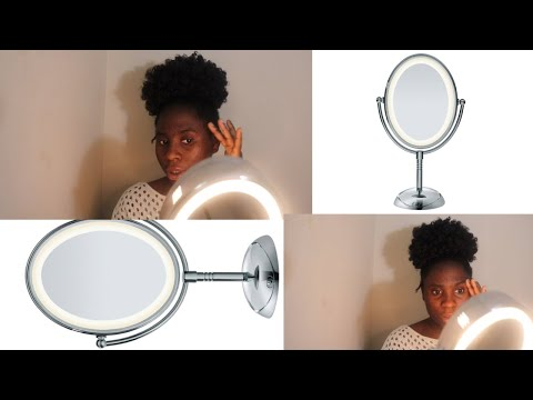 Conair Double-Sided Lighted Makeup Mirror Unboxing & Review!!!