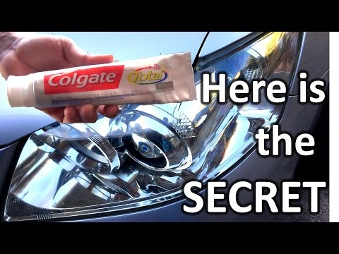 How to restore headlights with toothpaste
