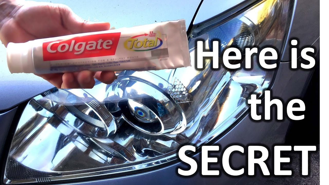 how to clean oxidized headlights with toothpaste