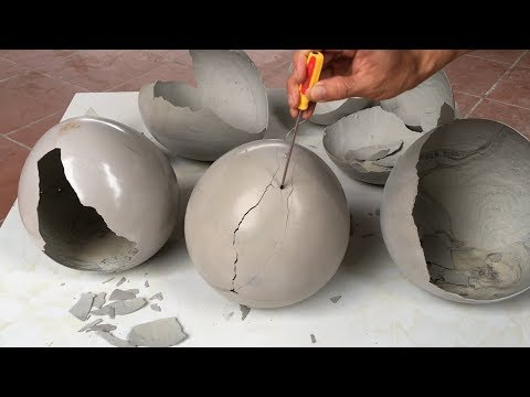 Ideas Small With balloon – Project Make Lamp Sleep Cement Simple – DIY Best and Crafts