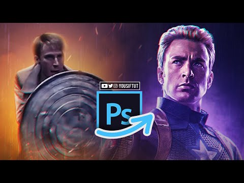 Captain America Poster │ Photoshop Tutorial │ Yousif Tut thumbnail