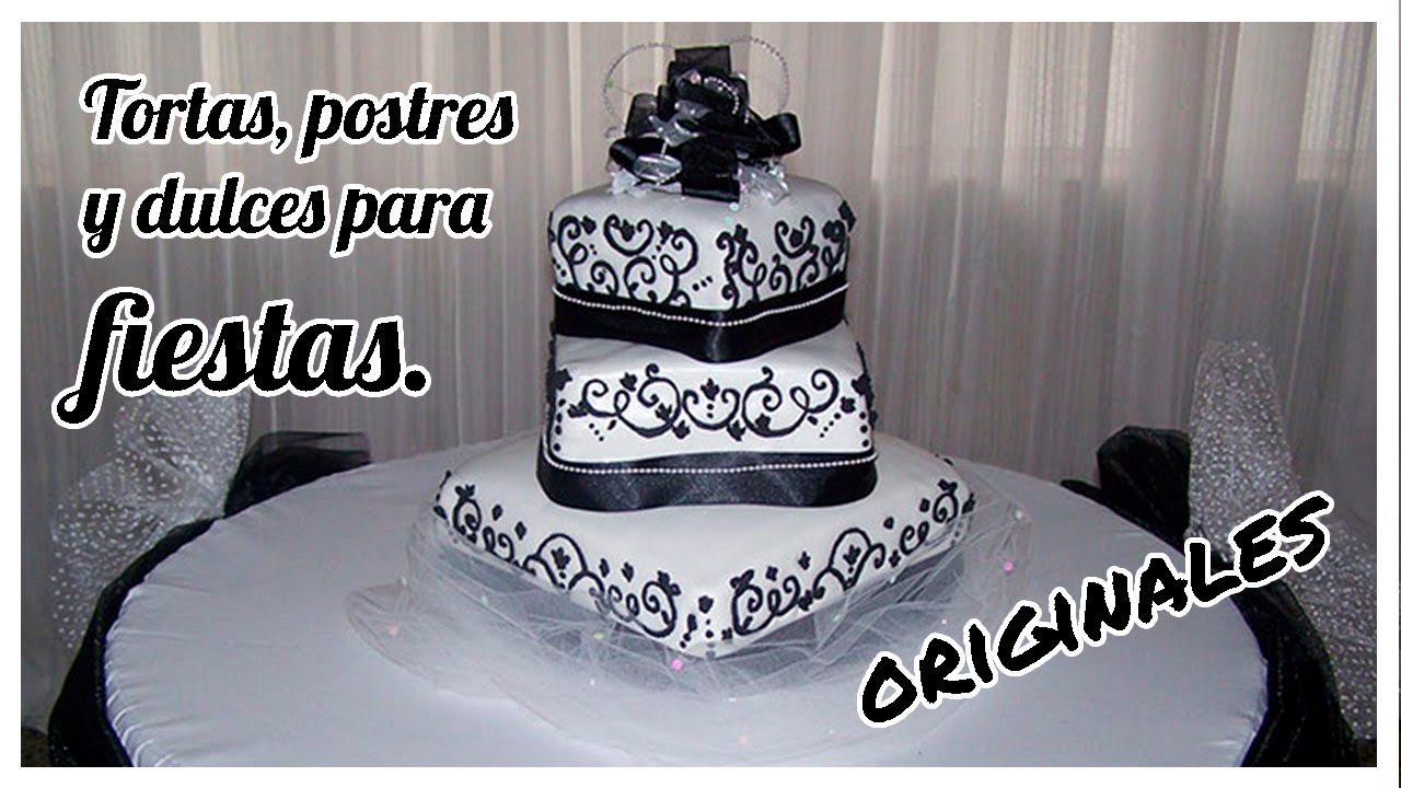 Tortas y postres para bodas y cumplea os youtube for Mesa de postres para boda