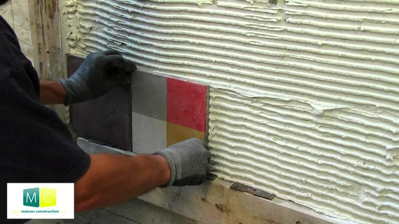 pose carrelage carreau ciment mosaique murale
