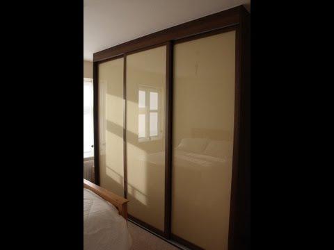 Fitted Sliding Door Wardrobe  Dark Walnut  Light Brown