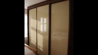 Fitted Sliding Door Wardrobe | Dark Walnut | Light Brown Glass | Full Carcase Interior | Soft Close