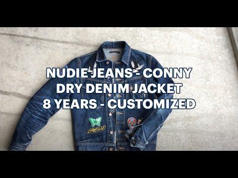 Dry denim / raw denim: Nudie Jeans Dry Conny Jacket, 8 years old