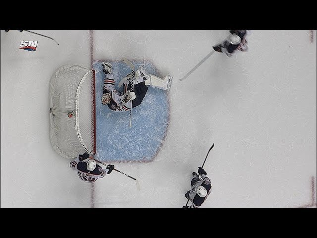Talbot reaches back to make incredible save