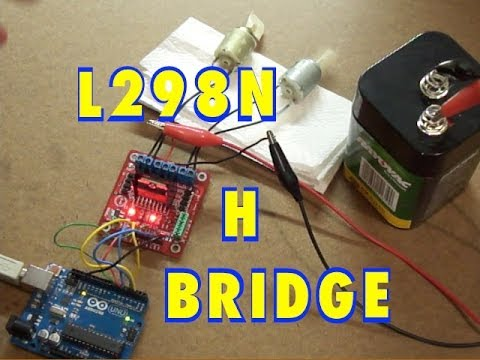 Arduino and l298n dual h bridge dc motor control youtube for Dc stepper motor working